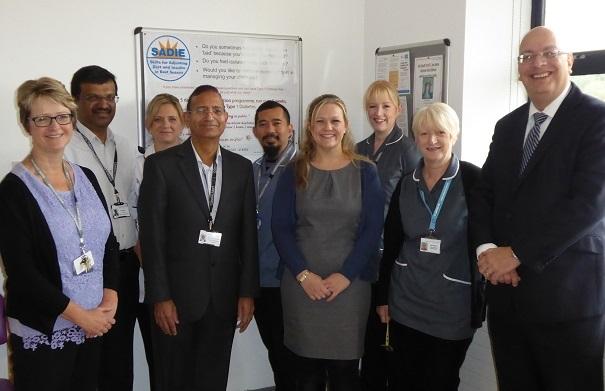 Paul Hetherington, Chief Executive of Marshall-Tufflex (far right) and Nikki Winter, Diabetes Specialist Nurse (far left) with colleagues