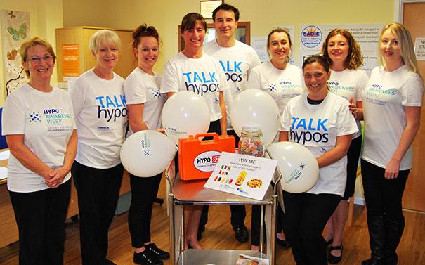 Diabetes team at Eastbourne DGH