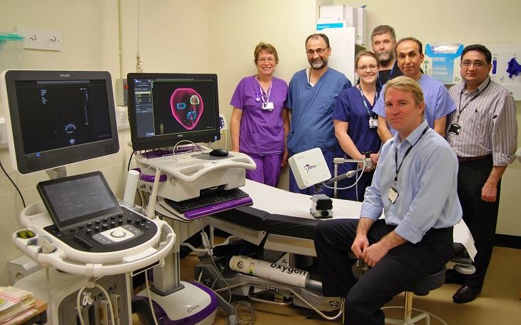 Mr Steve Garnett Consultant Urologist and Urology team with Uro Nav equipment