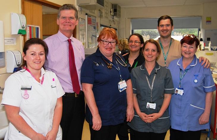 Cardiology team with MP Stephen Lloyd