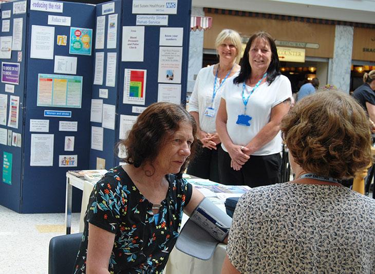 Community Stroke Rehabilitation Team promoting stroke prevention