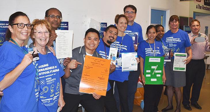 Diabetes team at Eastbourne DGH promote Hypo Awareness Week