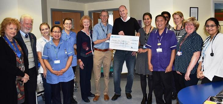 Cheque presented to Pevensey ward team