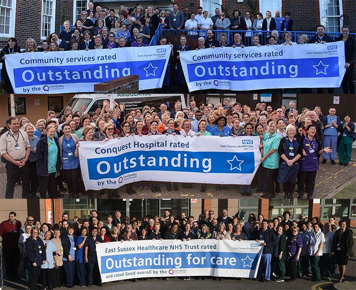 Trust staff celebrating their achievement