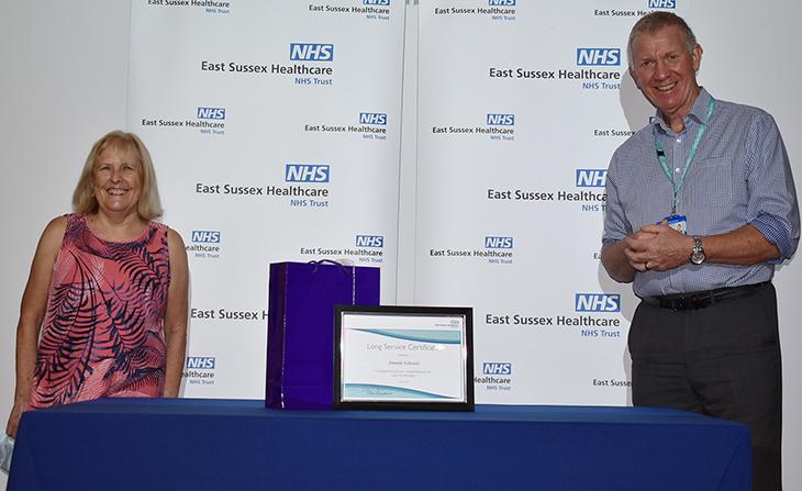 Amanda Edwards with Chief Executive Dr Adrian Bull
